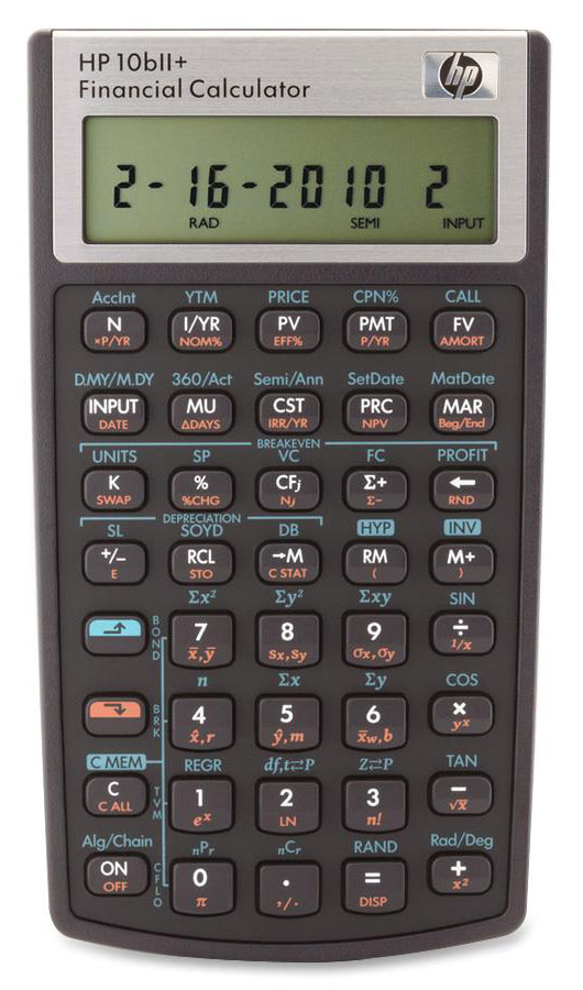 HP 10bii Real Estate Math Calculator